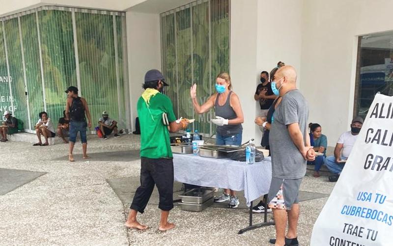Vallarta Food Bank during Hurricane Nora